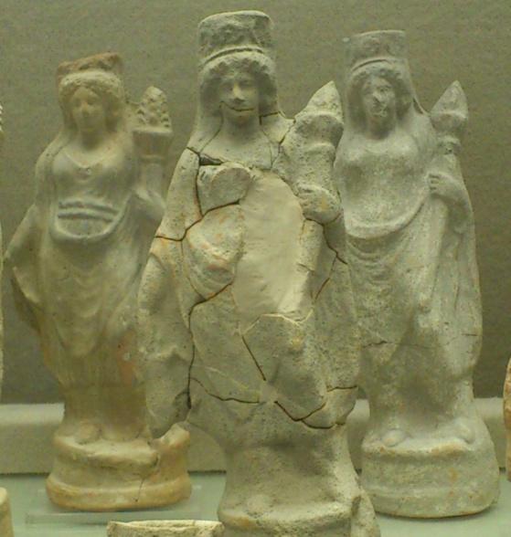 Estatuillas de Deméter.