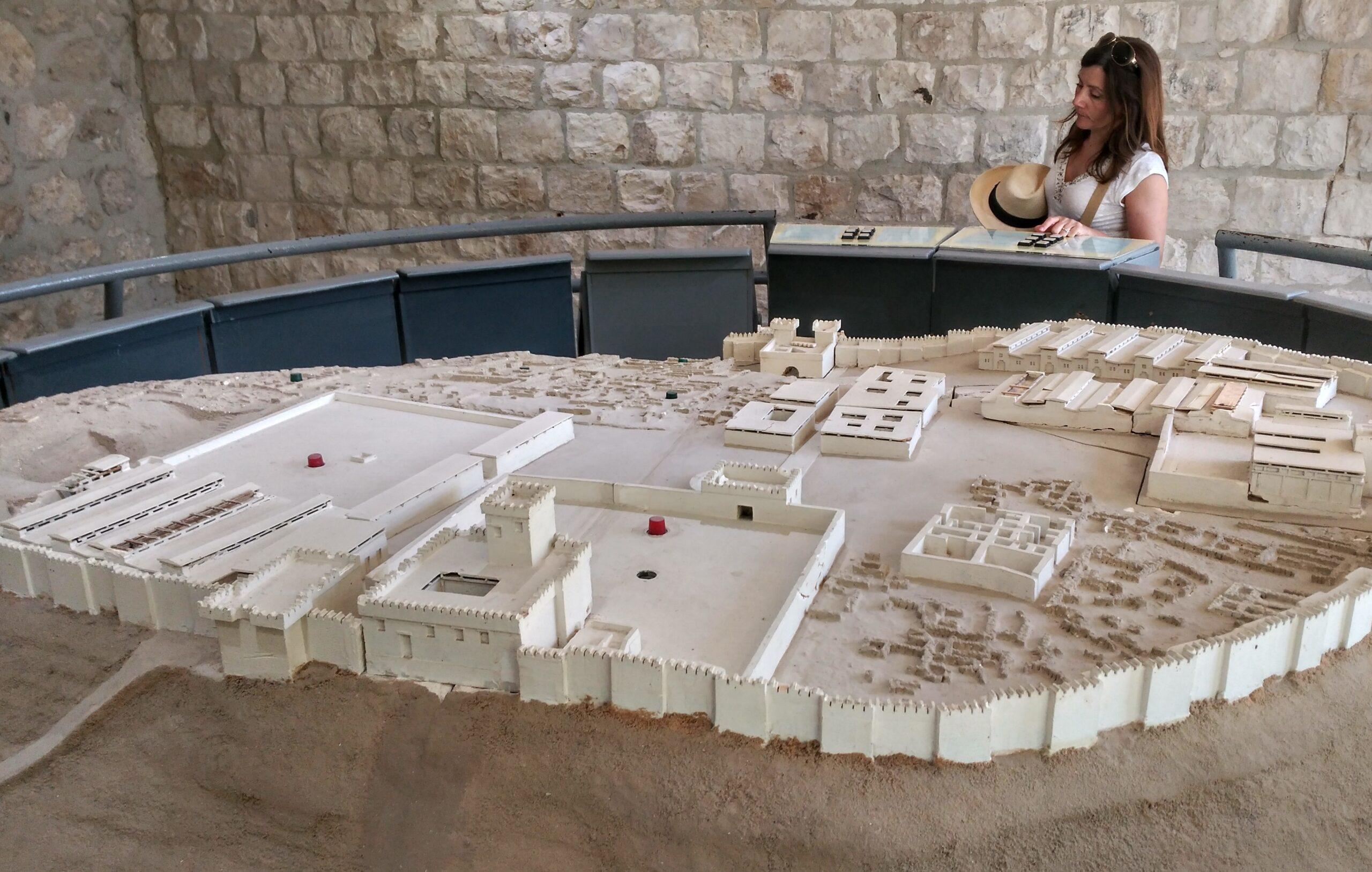 Maqueta de Meguido. Israel
