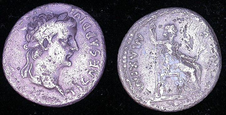 Denario de plata de Tiberio