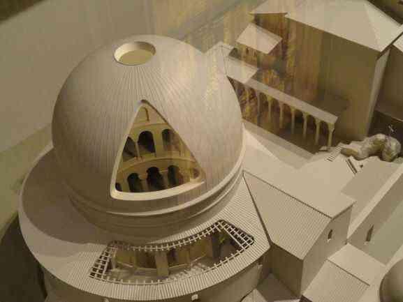 Maqueta del Santo Sepulcro original. Museo Torre de David, Jerusalén